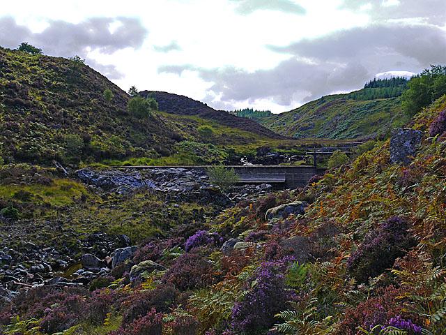 Hydro weir on the Abhainn Duibhe at Torr Mor
