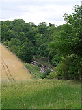 TL2416 : The Great Northern line just to the south of Welwyn North tunnel by John Lucas