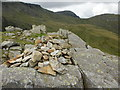 NY2407 : Summit of Rossett Pike, view towards Great End by Peter S
