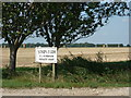 TA2220 : The sign for Sands Farm, Cherry Cobb Sands Road by Ian S