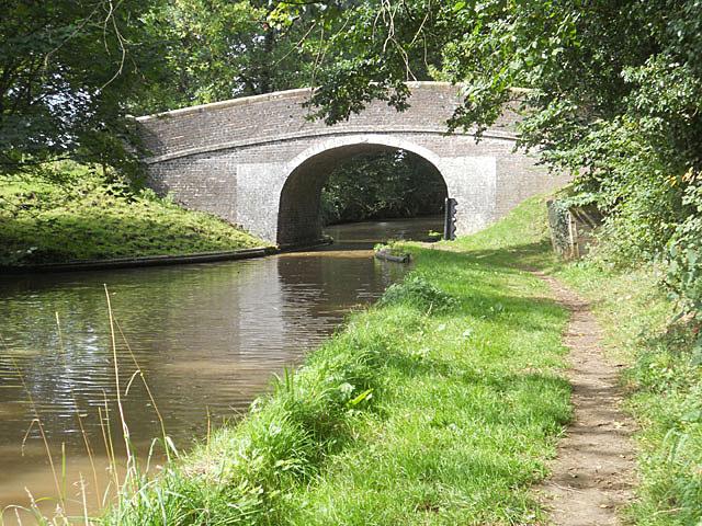 Canal bridge near the county boundary