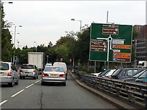 SO9098 : Wolverhampton Ring Road - Darlington Street roundabout by J Whatley