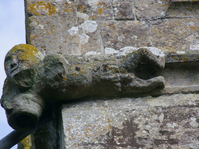 Fifteenth century carving at Hardington Bampfylde Church