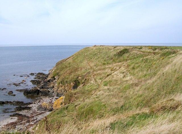View northwestwards along the coastal path to the Penrhyn Melyn headland