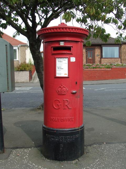 Pillar box on Wright Street