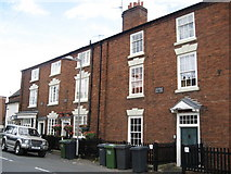SO8171 : Terrace of houses on Mart Lane, Stourport Upon Severn by Richard Rogerson
