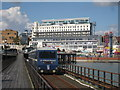 TQ8884 : Train on Southend Pier by Oast House Archive