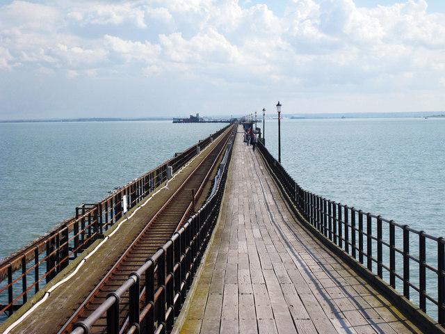 Entrance path to Southend Pier
