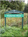 TM4265 : Theberton Woods Sign by Adrian Cable