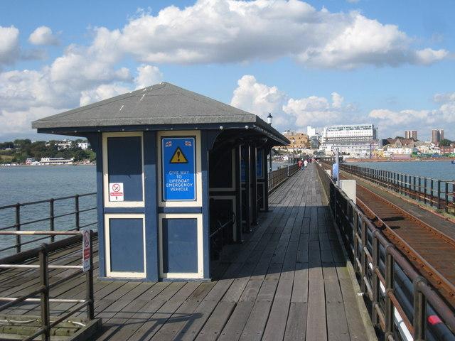 Shelter on Southend Pier