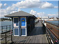 TQ8884 : Shelter on Southend Pier by Oast House Archive