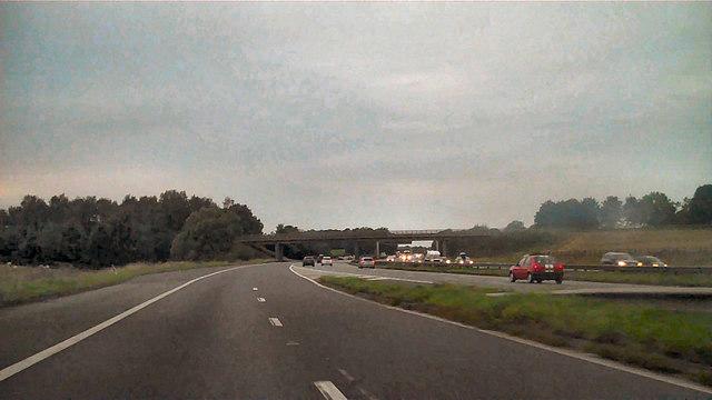 M6 Northbound at J19
