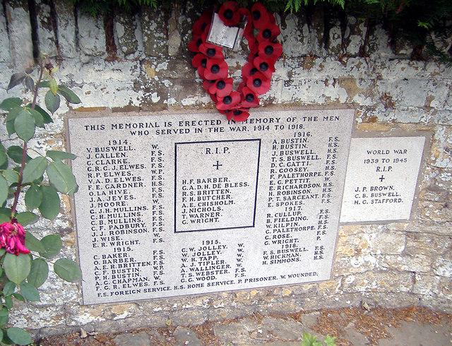 Great Billing, War Memorial
