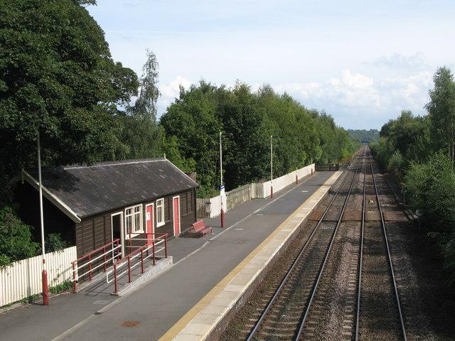 Haltwhistle Station, eastbound platform