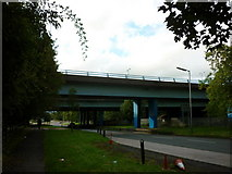 SD9311 : The A663 goes under the M62 by Ian S