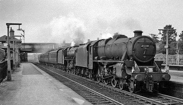 Leyland Station, with train