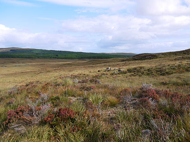 Moorland west of the Allt Chaldar