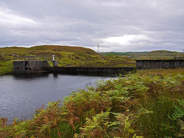 Hydro dam on the Allt Chaldar