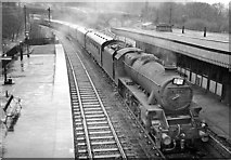 SK3281 : Dore & Totley Station, with train by Ben Brooksbank