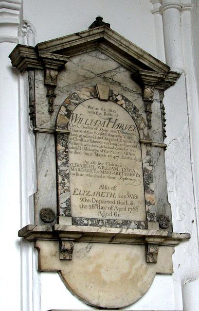 St Helen's Bishopgate, Norwich - C18 memorial
