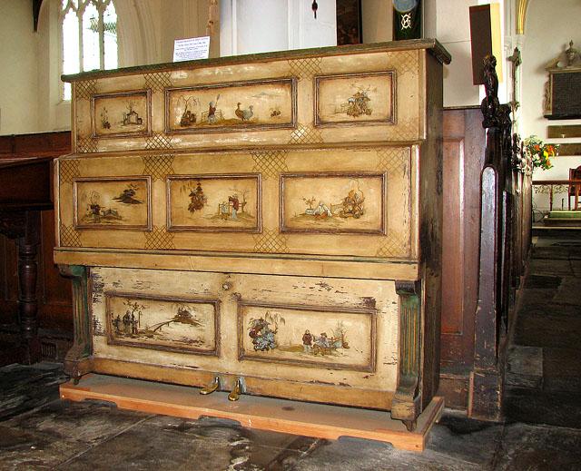 St Helen's Bishopgate, Norwich - the piano