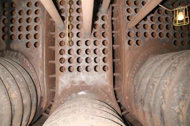 Steam tug Daniel Adamson - inside the Scotch boiler