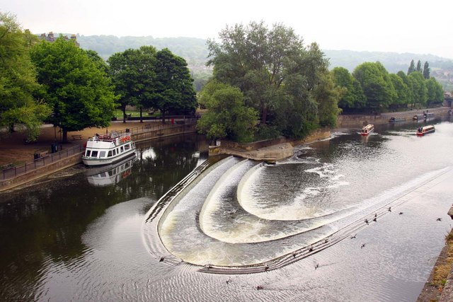 The weir on the River Avon