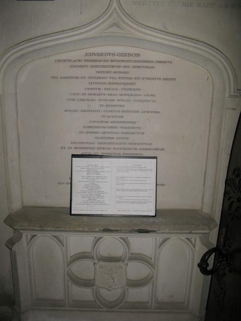 Mausoleum to Edward Gibbon