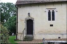 SU7963 : Finchampstead - St James' Church rear door by Brendan and Ruth McCartney