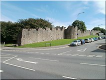 ST5393 : Part of the Port Wall, Garden City Way, Chepstow by Jaggery