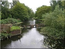 SK5907 : River Soar from Thurcaston Road footbridge by David P Howard