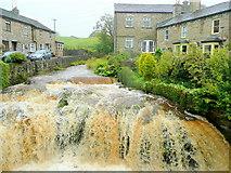 SD8789 : Gayle Beck in flood by Jonathan Billinger