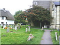 SP7407 : Churchyard, and tower of St Mary the Virgin Church by Roger Templeman