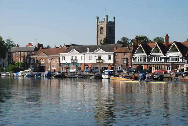 The west bank of the River Thames at Henley-on-Thames by Matthew Bristow
