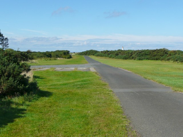 The driveway to the lighthouse, Turnberry