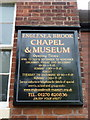 SJ7551 : Englesea-brook Chapel and Museum, Sign by Alexander P Kapp