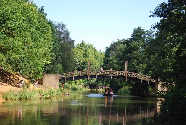 The North Downs Way crosses the River Wey