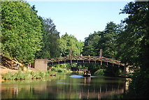 SU9948 : The North Downs Way crosses the River Wey by N Chadwick