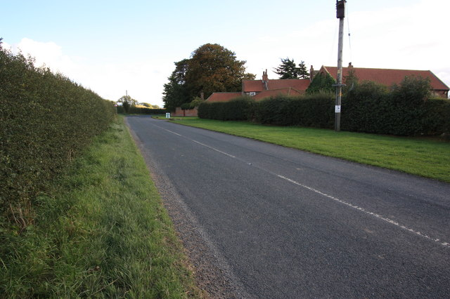 Minor road near Maltby Grange