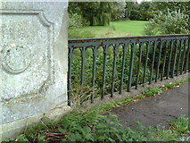 SP7006 : Benchmark on Thame Bridge, 3 yards into Buckinghamshire by Roger Templeman