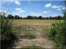 SU7556 : Bent farm gate by Given Up