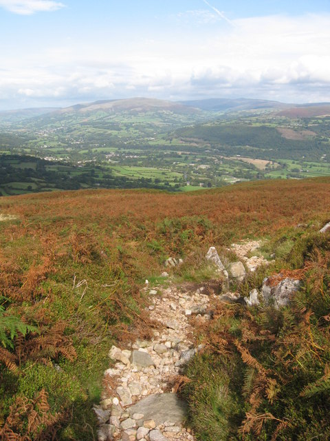 View north from footpath on the Blorenge