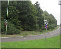 TL8663 : Slip road to A14 east from Junction 44 by John Firth