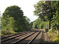 NY7263 : The Newcastle to Carlisle line east of Haltwhistle by Mike Quinn