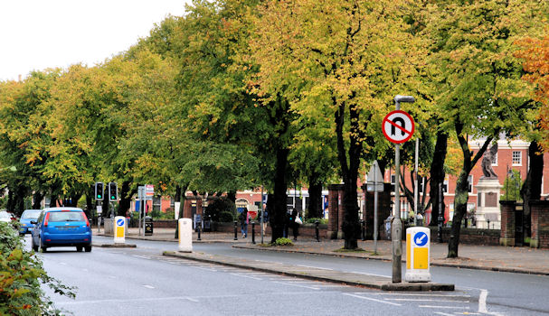 """""""No U-turns"""" sign, Belfast"""