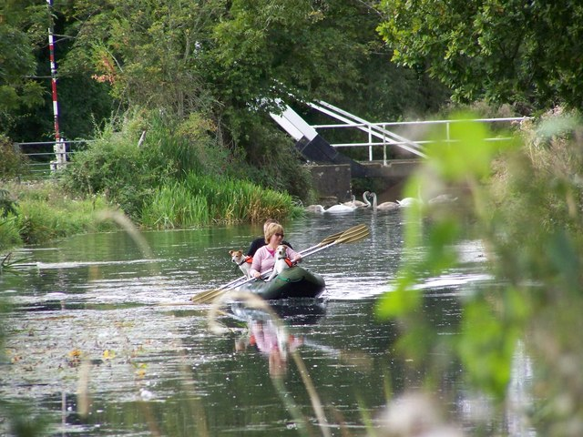 Canoeing on the Basingstoke canal.