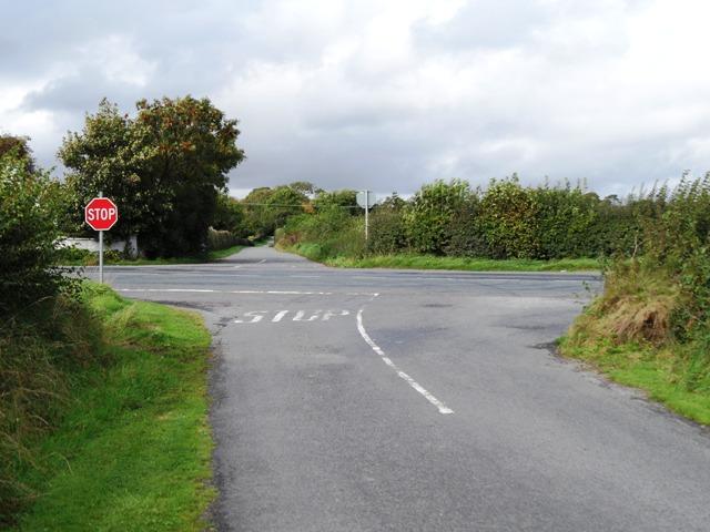 Crossroads in Brownstown, near Kentstown, Co. Meath