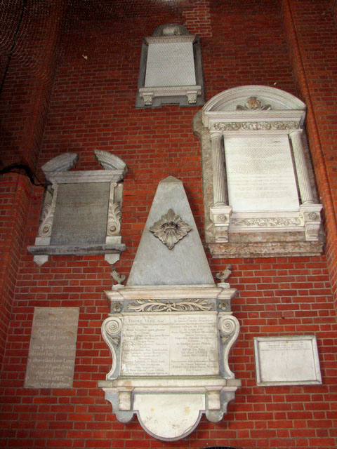 St Andrew's church in Thorpe St Andrew - memorials in tower