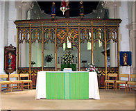 TG2608 : St Andrew's church in Thorpe St Andrew - C20 chancel screen by Evelyn Simak