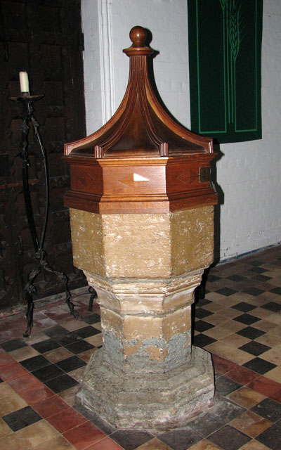 St Andrew's church in Thorpe St Andrew - C13 font